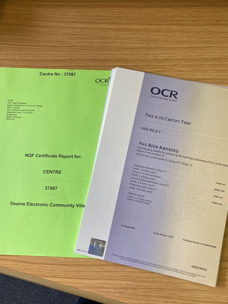 OCR certs